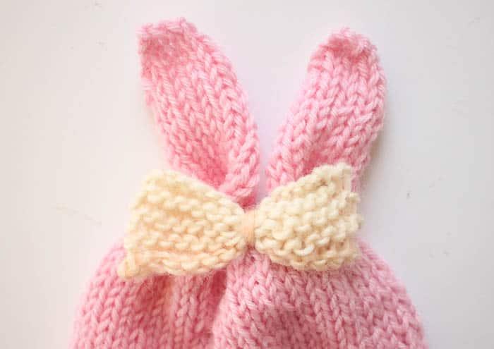 Baby Girl Bunny Ear Hat Free Knitting Pattern