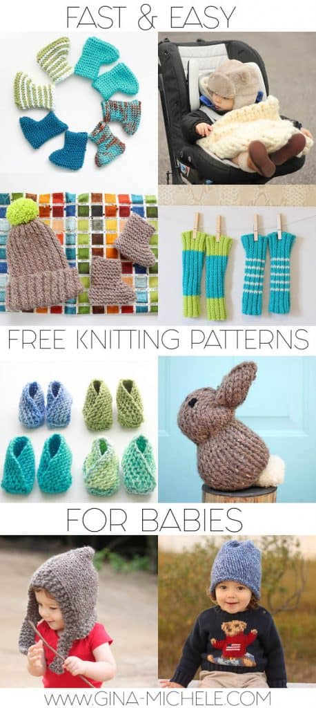 Fast Easy Free Knitting Patterns For Babies Gina Michele