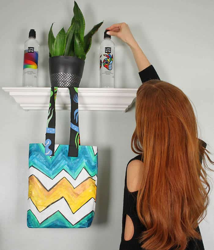 Painted Canvas Tote DIY