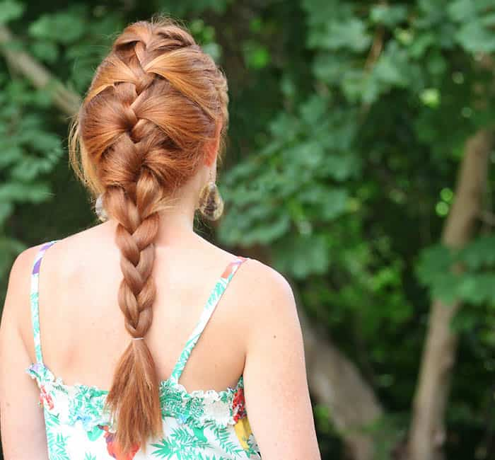 Easy Hairstyles for Long Hair- Relaxed French Braid