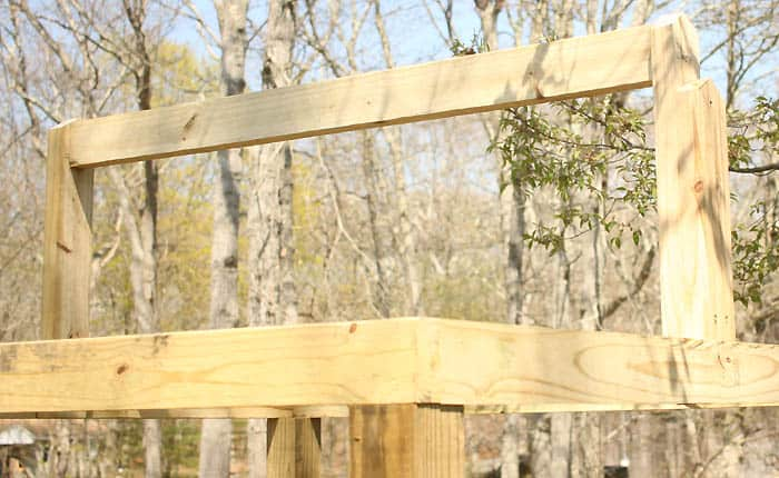 How to build a sandbox with a roof