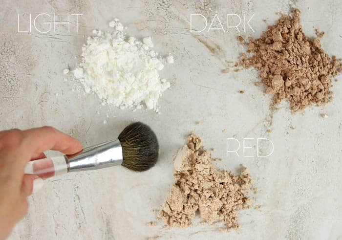 DIY Dry Shampoo for Light, Dark and Red Hair
