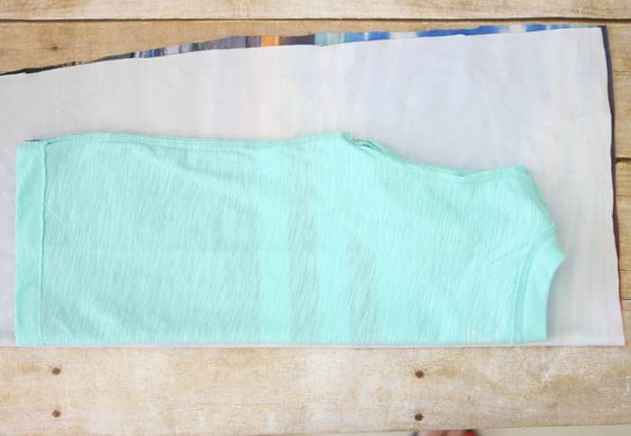How to Sew a Toddler Tank Top using a t-shirt as a pattern