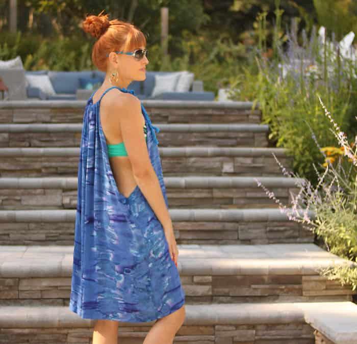 DIY Super Easy Beach Dress- no pattern necessary!