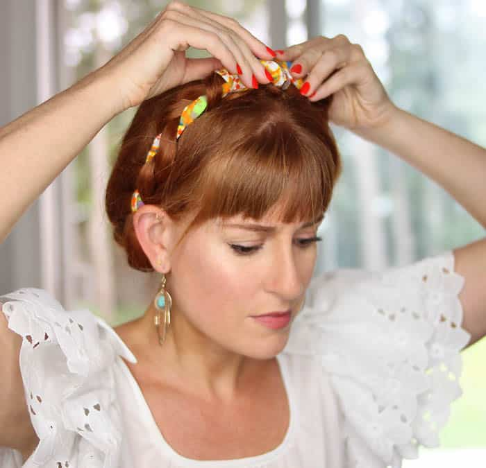Easy Scarf Milkmaid Braids Tutorial