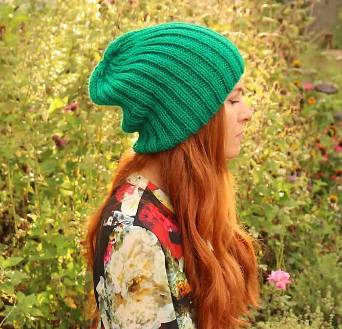 Slouch Beanie Knitting Pattern - Gina Michele