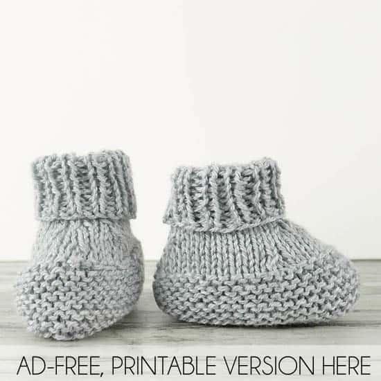 https://shopginamichele.com/products/flat-knit-baby-booties-knitting-pattern