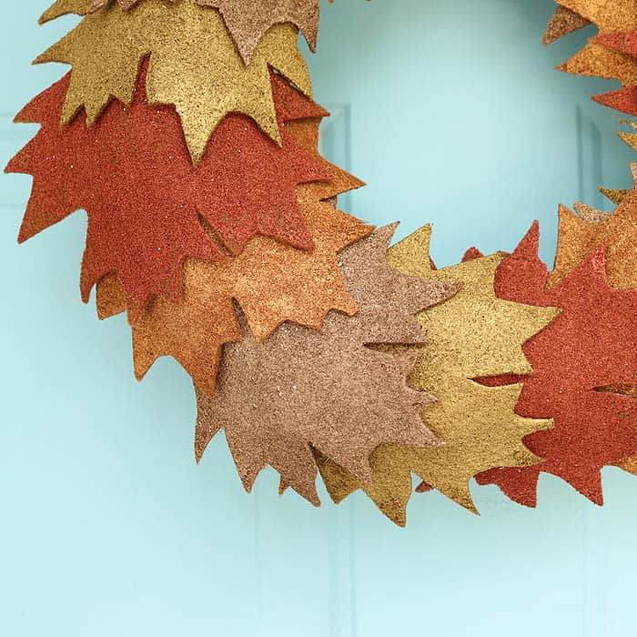 Pottery Barn Inspired Metallic Leaf Wreath DIY