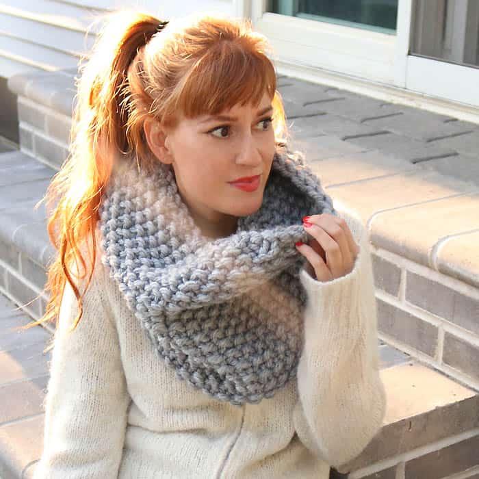 Seed Stitch Cowl Free Knitting Pattern