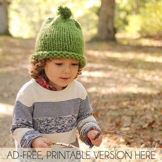 72118993ae52f 1 Hour Baby   Kids Hat Knitting Pattern - Gina Michele