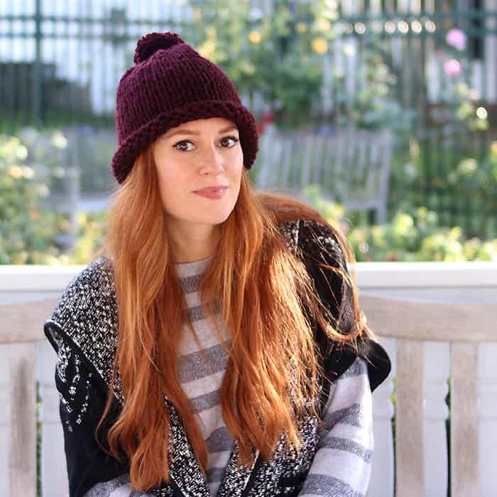 1 Hour Hat Free Knitting Pattern- Women and Men Sizes