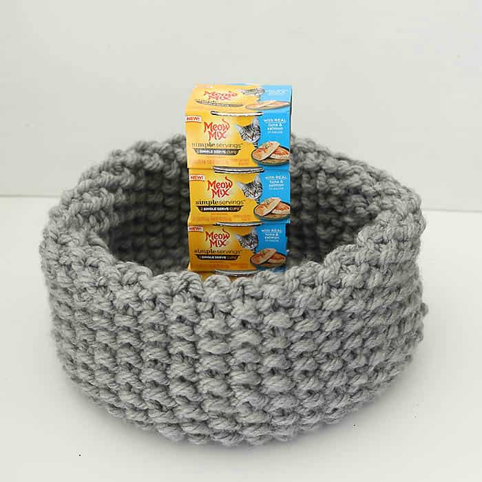 Easy Cat Bed Free Knitting Pattern