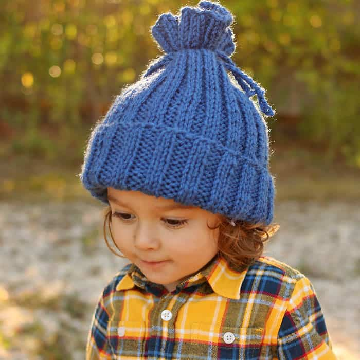 Easiest Kids Hat Ever Knitting Pattern Gina Michele