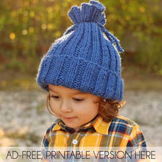 Easiest Toddler & Kids Hat EVER Free Knitting Pattern