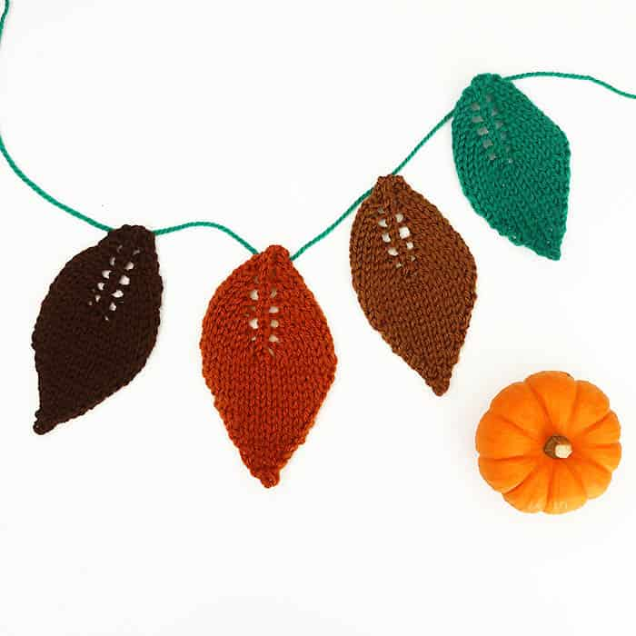 How to knit a leaf by Gina Michele