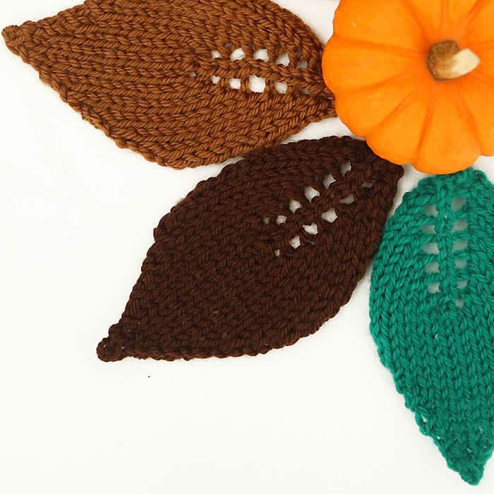 Easy Leaf Free Knitting Pattern - Gina Michele