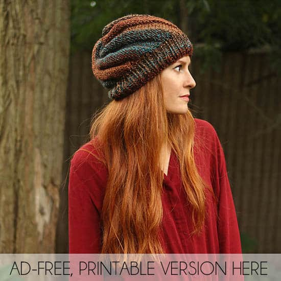 Flat Knit Hat Beginner Knitting Pattern By Gina Michele