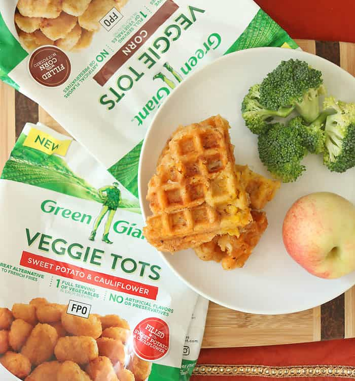 Healthier Veggie Tot Grilled Cheese recipe