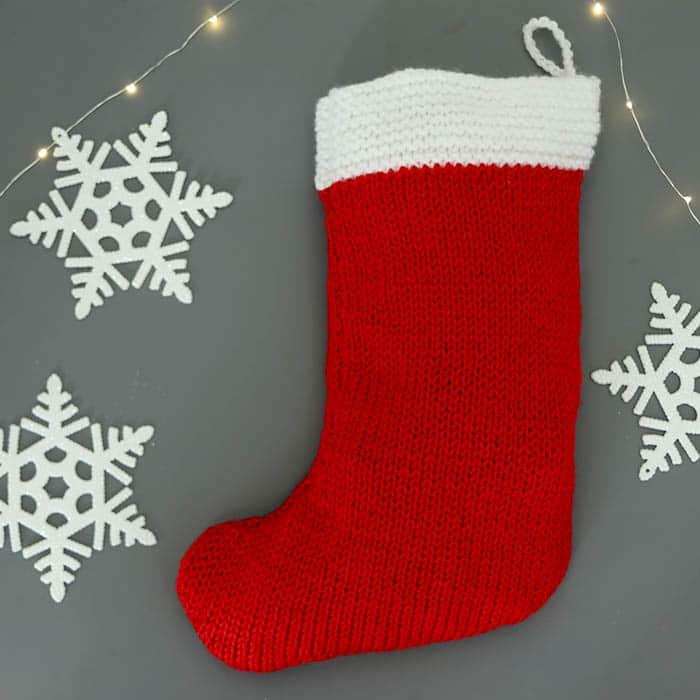 Flat Knit Christmas Stocking Knitting Pattern