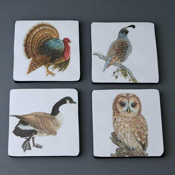 Laminated Tile Coasters DIY
