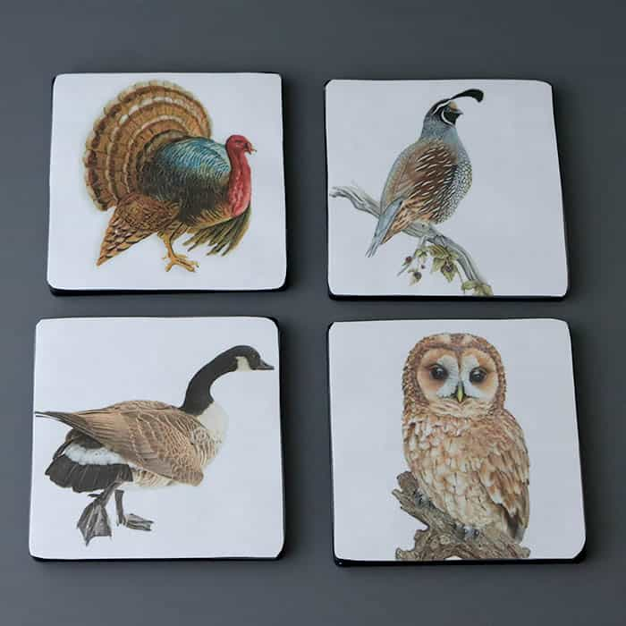 Laminated Tile Coasters DIY
