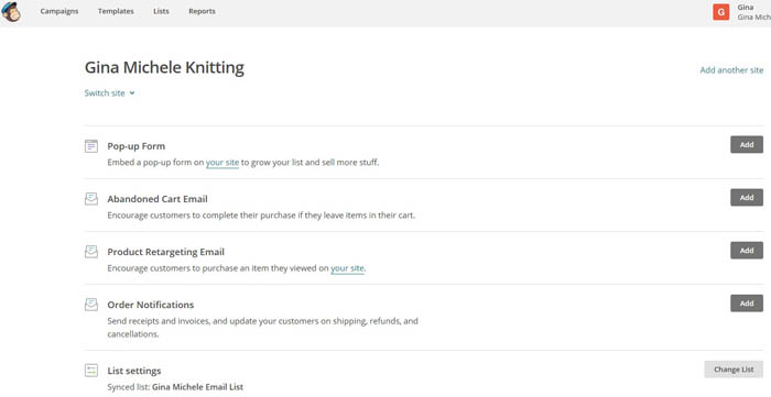 Email automation and order notifications with MailChimp