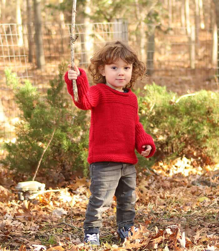 Easy Toddler Sweater Free Knitting Pattern