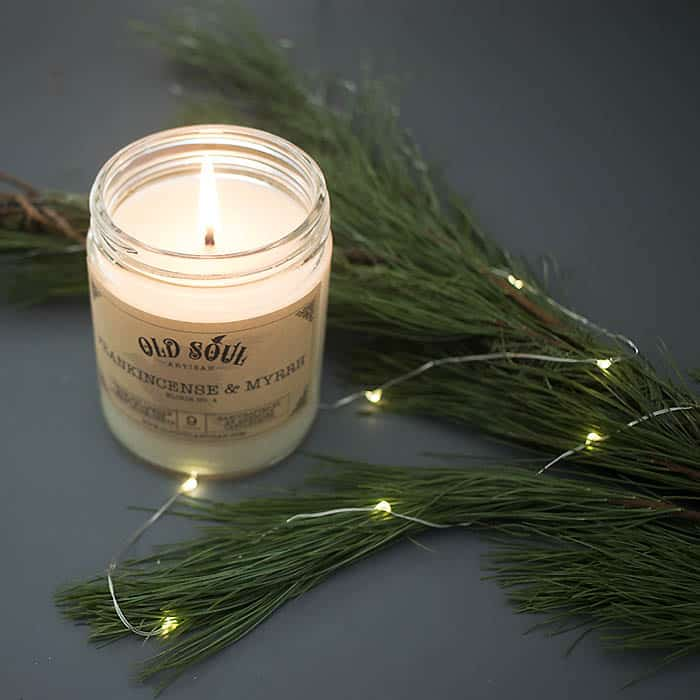 Old Soul Artisan Frankincense & Myrrh Candle