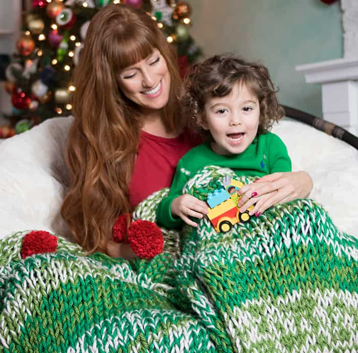Holiday Throw Free Knitting Pattern