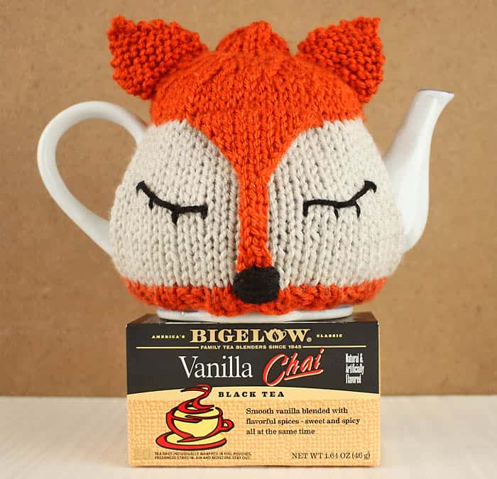 Flat Knit Fox Tea Pot Cosy Knitting Pattern