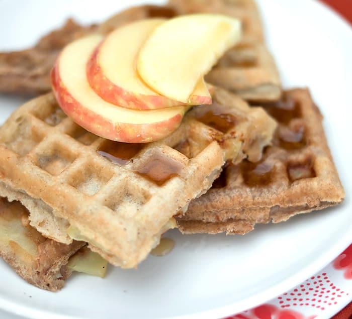 Vegan Apple Cinnamon Waffles