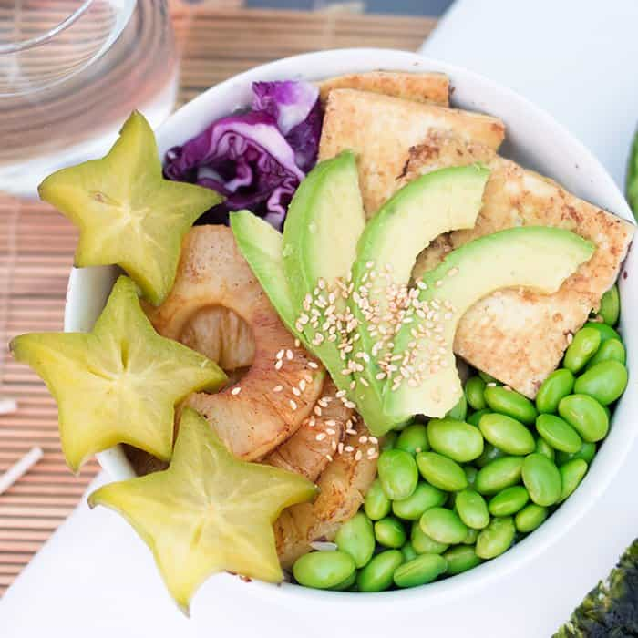 Vegan Hawaiian Poke Bowl
