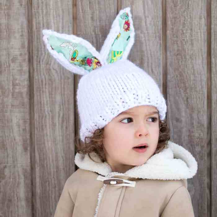Bunny Hat Knitting Pattern- Gina Michele