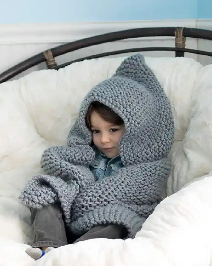 bd9d65ba639f Hooded Baby Blanket Knitting Pattern   Homeopathic Relief for ...