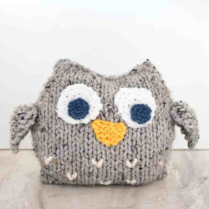 Easy Plush Owl Knitting Pattern