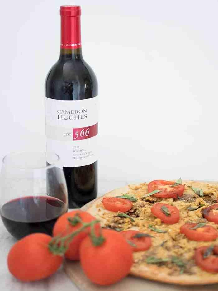 Vegan Caprese Pizza with Cameron Hughes Wine
