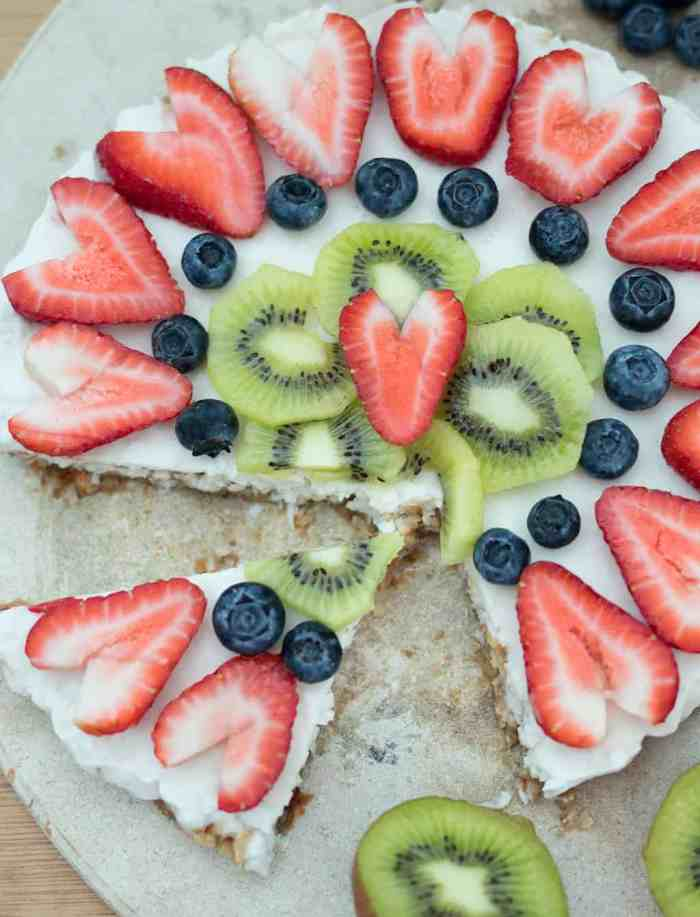 Vegan Fruit Pizza