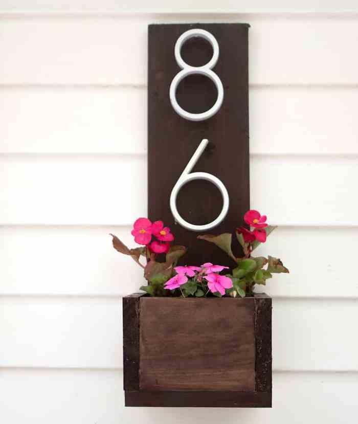 House Number Planter DIY