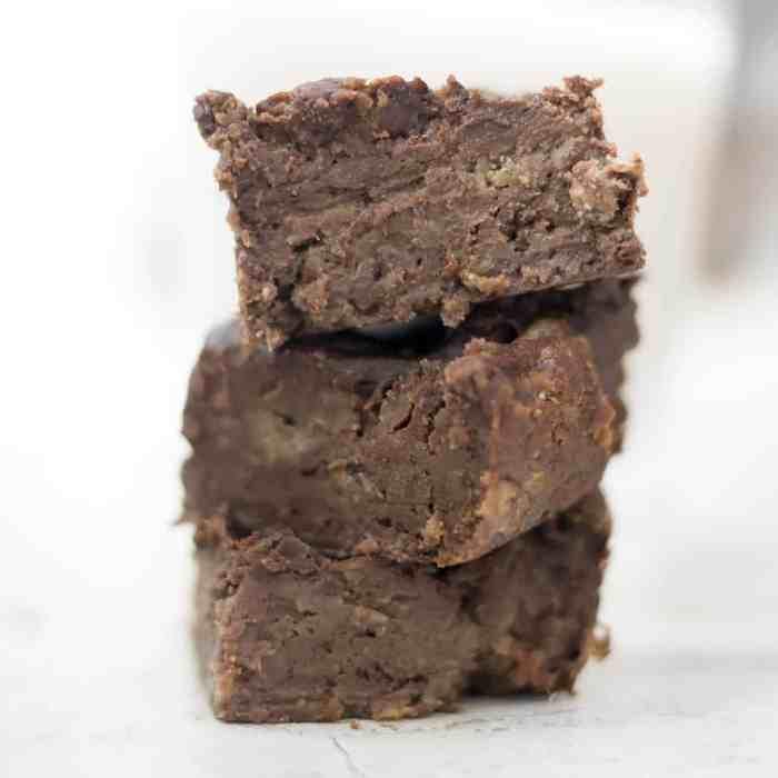 4 Ingredient Vegan Protein Brownies