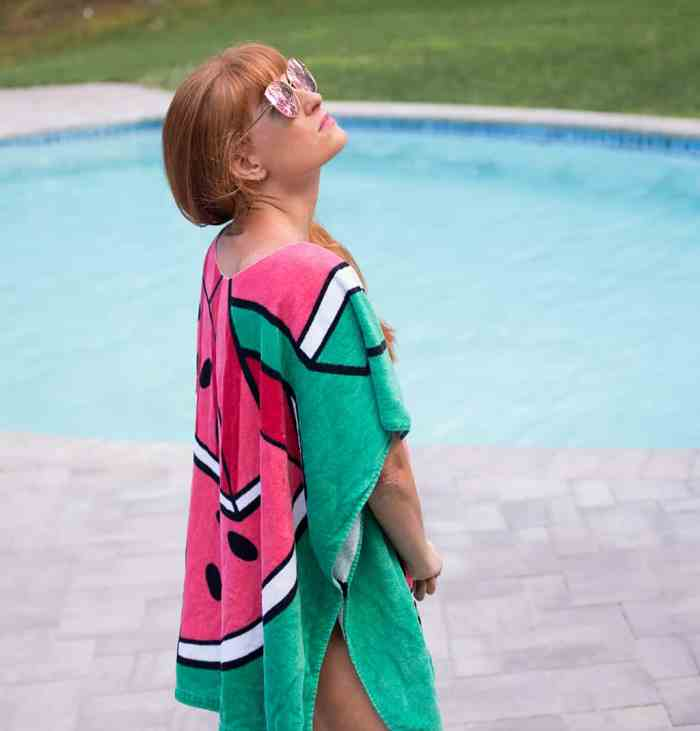 DIY Beach Towel Poncho