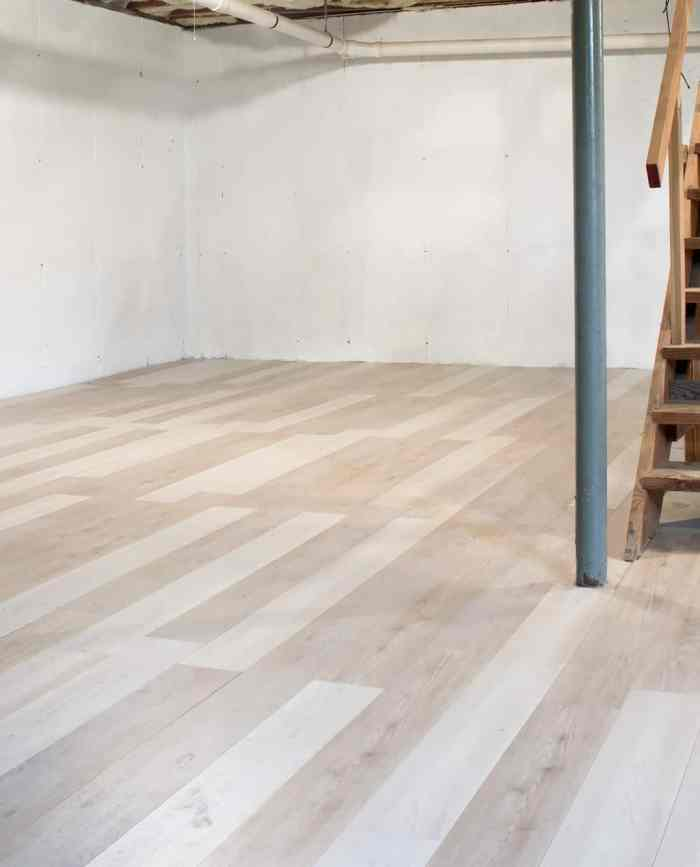 Installing Luxury Vinyl Plank Flooring, Vinyl Plank Flooring Basement Installation