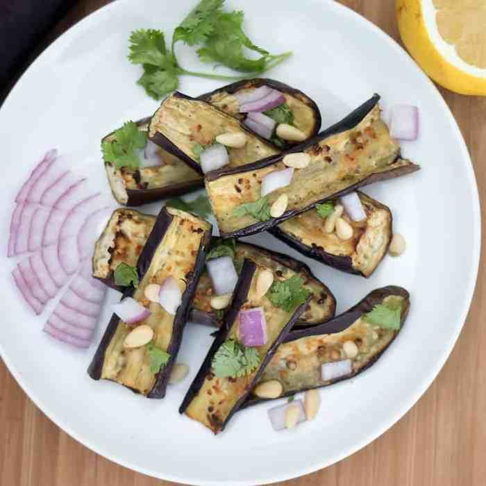 Roasted Japanese Eggplant
