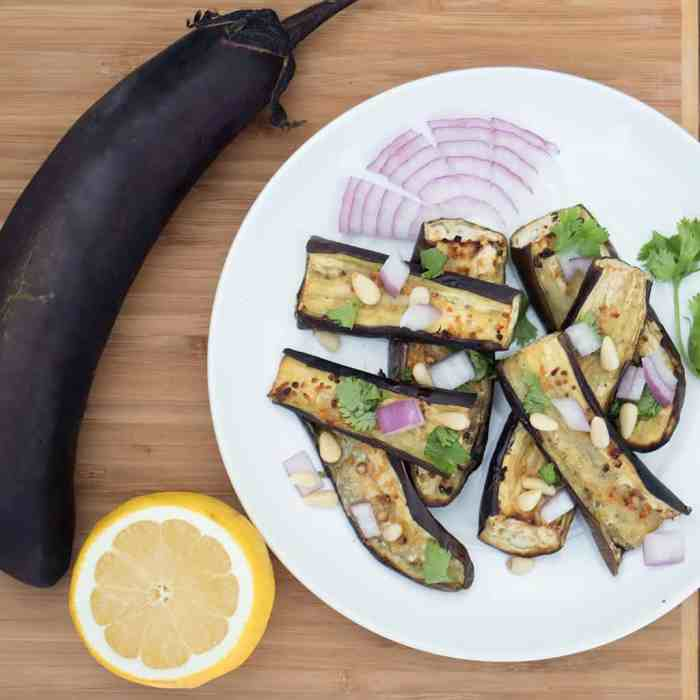 Roasted Japanese Eggplant