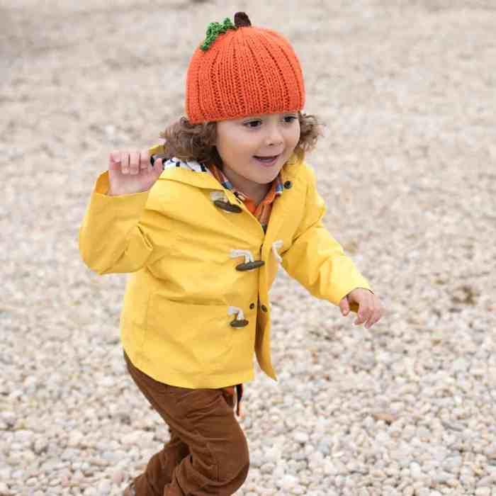 Pumpkin Hat Knitting Pattern by Gina Michele