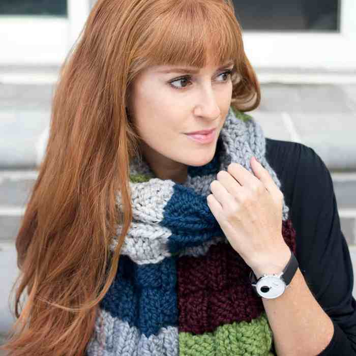 Leftover Yarn Scarf Knitting Pattern