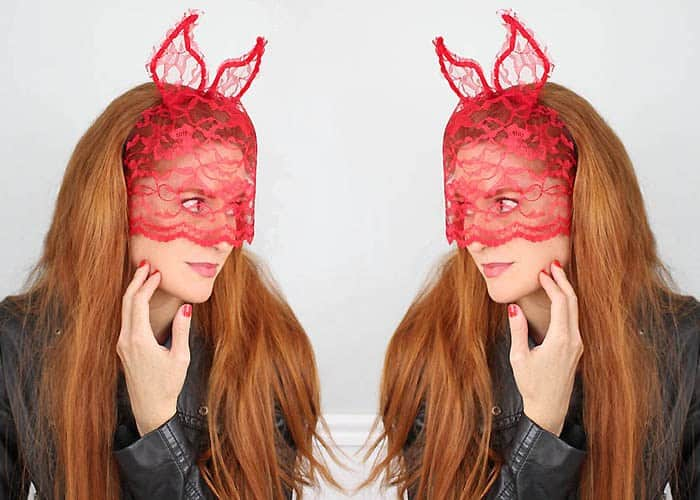 Lace Devil Horns with Veil DIY