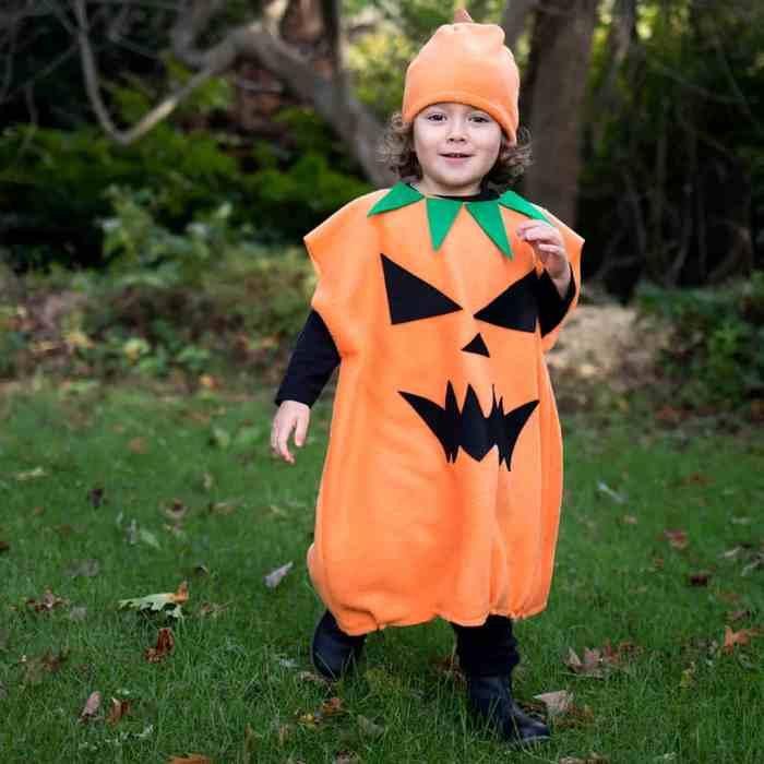Kids Jack O Lantern Costume DIY