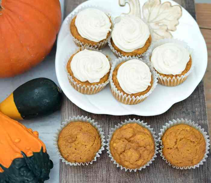 Vegan Pumpkin Cupcakes with Cream Cheese Frosting