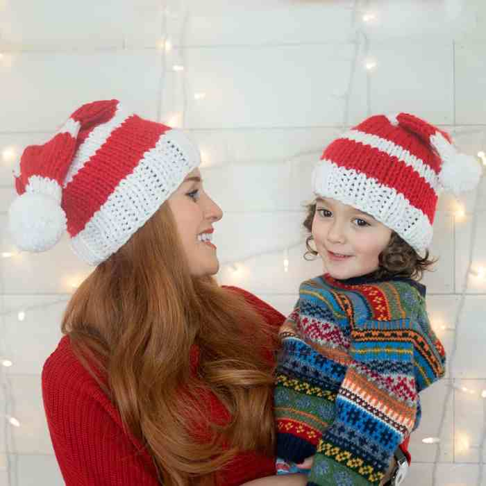 Christmas Hat Knitting Pattern