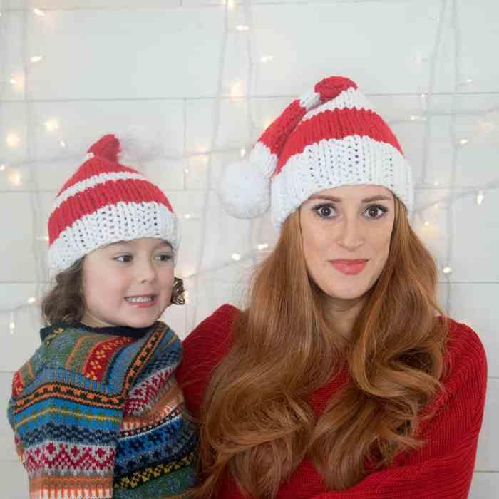 Christmas Hat Knitting Pattern